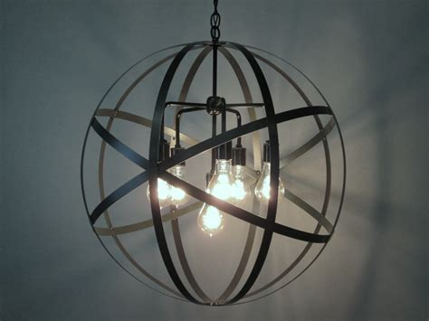 Orb Pendant Chandelier Industrial Orb Chandelier Ceiling Light Sphere 24