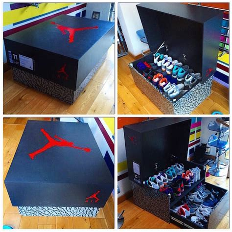 how to make shoe boxes for storage designer builds a sneaker cabinet that looks like a