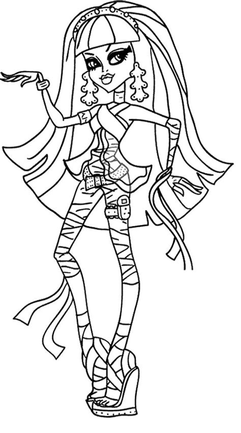 monster high animals coloring pages cleo de nile monster high coloring page monster high