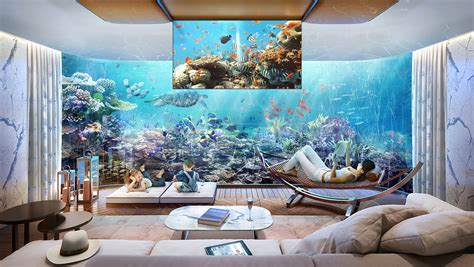 Living Room Kitchen Design by Dubai Seahorse The Floating Seahorse Floating House