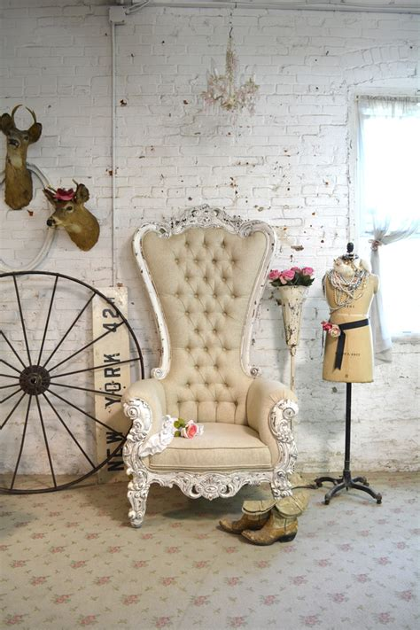 shabby chic upholstered chairs painted cottage chic shabby tufted upholstered