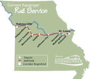 missouri amtrak map passenger railroads