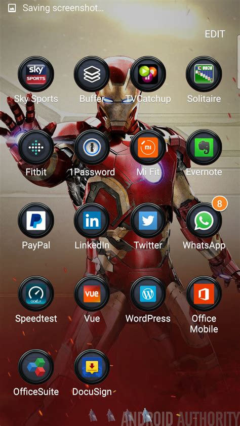 theme samsung s6 edge iron man samsung galaxy s6 themes store hands on