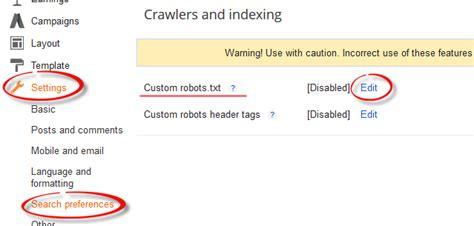 membuat robot txt cara memasang robots txt blogger yang benar ctc oke