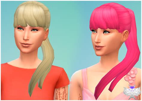 ponytailsims 4 child my sims 4 blog side ponytails ea s mesh modified by