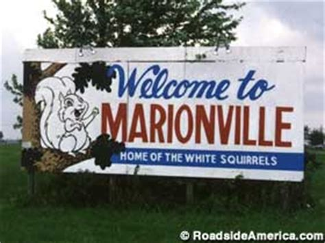 home of the white squirrels, marionville, missouri