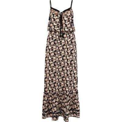 black floral ditsy print maxi dress dresses sale
