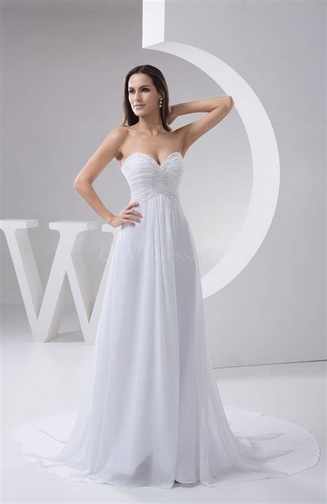 White Allure Bridal Gowns Inexpensive Country Unique Elegant Sweetheart Simple   UWDress.com