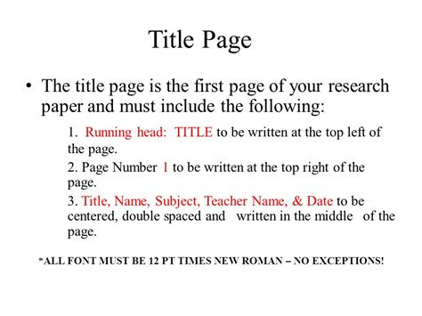 title section apa format basics ppt download