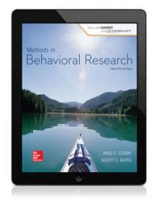 Methods In Behavioral Research 12e 2015 Paul Cozby Bates psychology mcgraw hill education