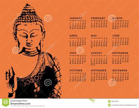 Calendrier Bouddhiste Calendrier De Bouddha Illustration De Vecteur Image