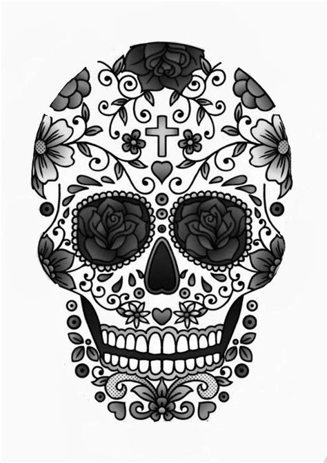 Day Of The Dead Calavera Outline by 9 Outline 29 Downright Awesome Sugar Skulls You Re Going To