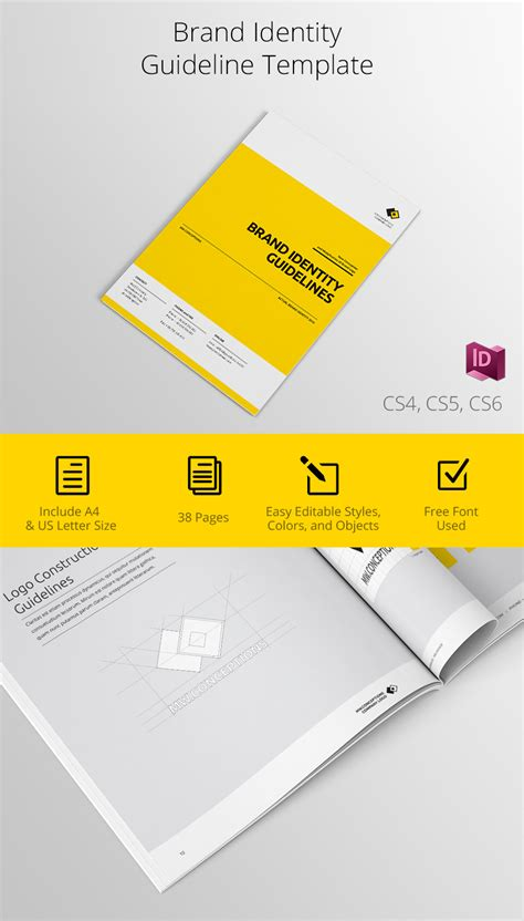 Brand Identity Guidelines Template On Behance Brand Identity Template