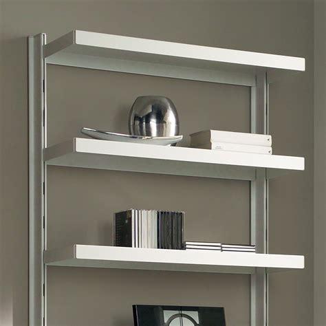 scaffale in acciaio scaffale in metallo nolan a muro in acciaio bianco 85 x 32