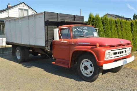 extended bed 1962 ford f600 farm truck w hydraulic extended lift bed