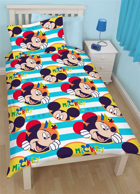 Bedcover Set Single No3 Motif Mickey Mouse disney mickey mouse boo single duvet quilt cover