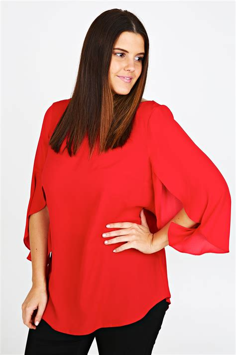 Dress Barn Plus Size Tops Red Blouse Size 22 Women S Lace Blouses