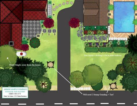 map drawing tool estimating software tree lawn and landscape