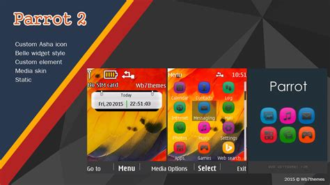 guitar themes for nokia c2 parrot 2 theme nokia x2 00 x2 02 x2 05 c2 05 6303i asha