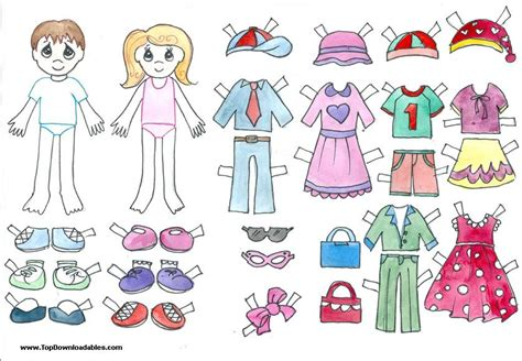 How To Make Cut Out Paper Dolls - free printable paper doll cutout templates for and
