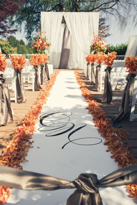 wedding colors for fall canada wedding with warm fall colors modwedding