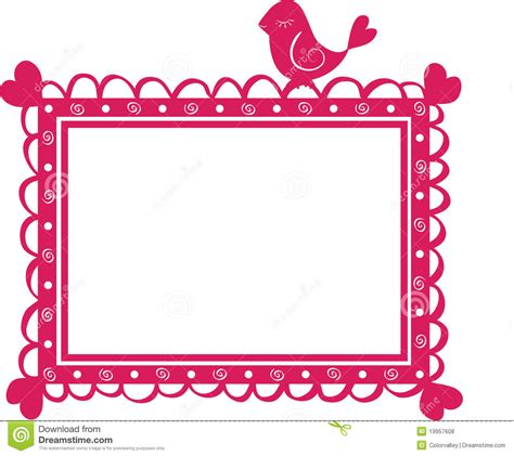 frame for pictures cute banner frame with bird vector illustration pet