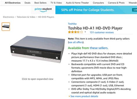 Hd Dvd Is To Sell 100000 Leaving In Its by Why Does Still Sell Hd Dvd Discs Players Hd Report