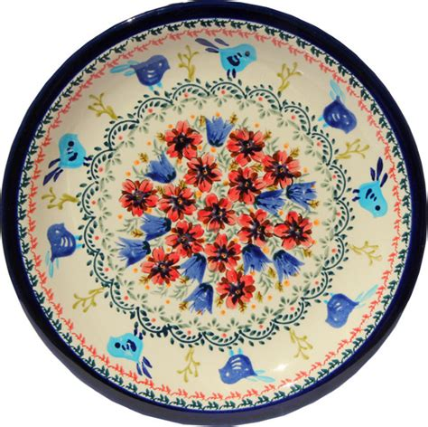 polish pottery dinner plate pattern number 233ar polish pottery dinner plate pattern number 214ar