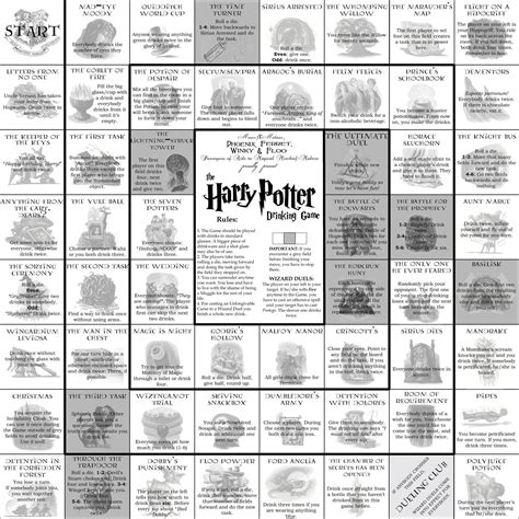 printable drinking board games 4 best images of harry potter drinking game board