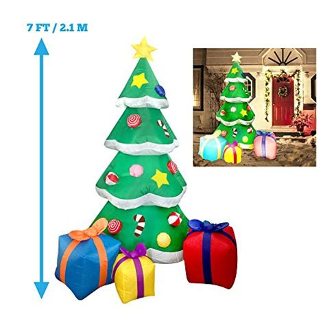 4 ft waterproof inflatable christmas tree decoration lawn 7 foot led light up giant christmas tree inflatable with 3