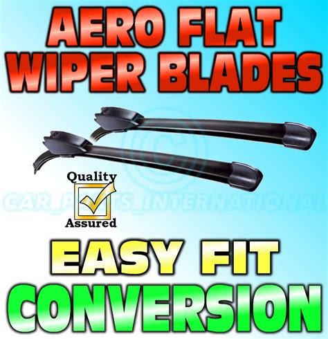 Daihatsu Sirion Wiper Mobil Valeo Flat Blade Quality 17 22 aero flat wiper blades pair hook fitting modern flat design 19 quot 17 quot ebay