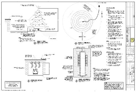 christmas tree engineering drawing