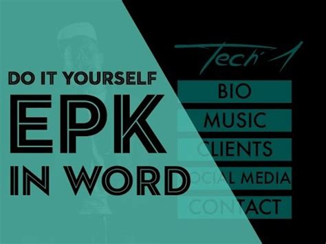 epk template electronic press kit tutorial do it yourself epk in