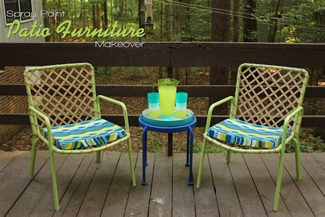 spray paint patio furniture the handcrafted spray paint patio furniture makeover