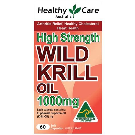 Diskon Healthy Care High Strength Krill 1000 Mg 60 Kapsul 헬씨케어 고함량 심해 크릴 새우 오일 1000mg 30 캡슐 호주투유 hoju2u
