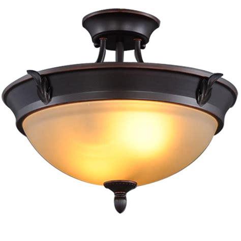 bronze flush mount light hton bay 15 in 2 light rubbed bronze semi
