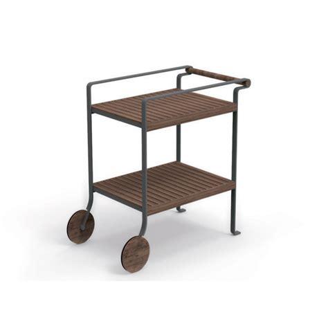 chariot 224 roulettes pour repas en teck et aluminium cl 233 o talenti