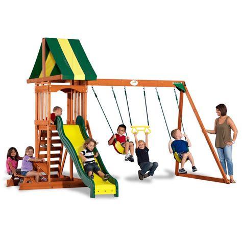 wooden swing sets menards backyard discovery prestige wooden swingset