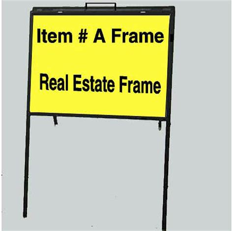 24x36 Real Estate Frame by Single Arm Pro
