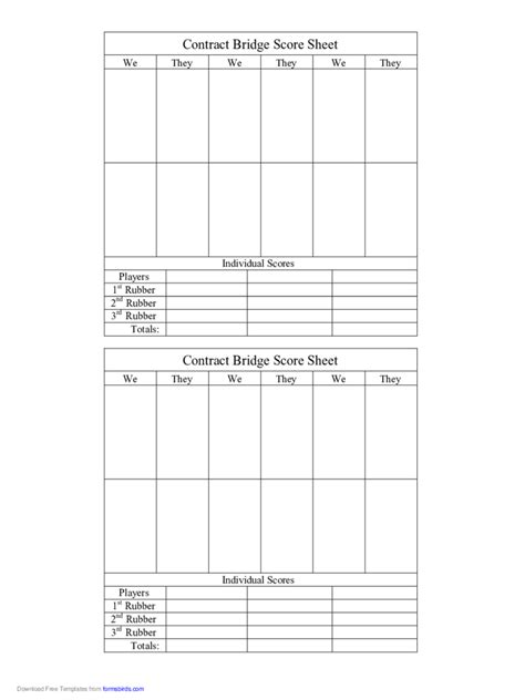 bridge score sheet bridge score sheet 6 free templates in pdf word excel