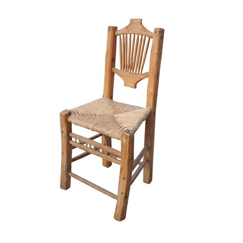 Cane Dining Chairs Western Hand Carved Wood And Cane Dining Chair Ebay