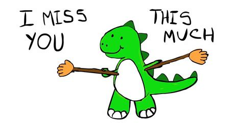 miss you clip miss you dinosaur