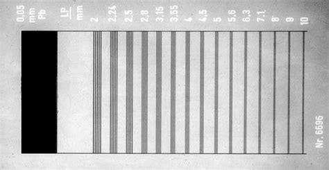x ray test pattern technical data