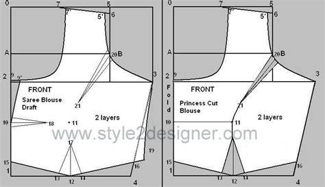 pattern making of katori blouse types of princess cut blouse with waistband style2designer