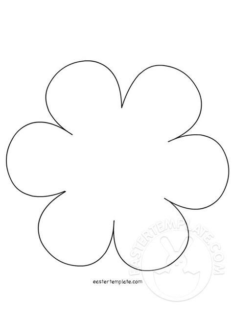 printable flowers shapes flower shape easter template