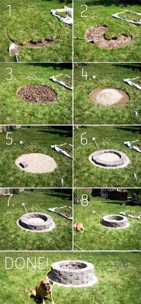 how to make a backyard fire pit 38 easy and fun diy fire pit ideas amazing diy interior