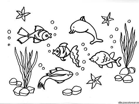 dibujos para colorear de animales del mar image gallery mar dibujos