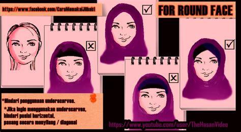 tutorial berhijab untuk wajah kotak hiijab syarii berhijab untuk muka bulat images