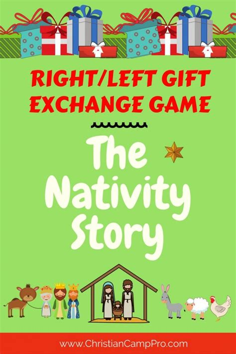 left right across gift exchange story right left gift exchange the nativity story christian c pro