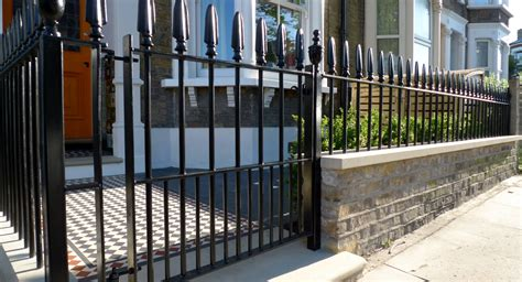 garden walls and gates metal gate and rail front garden company